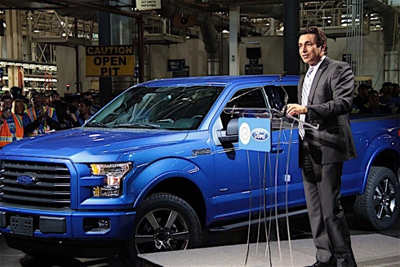 Mark-Fields-with-2015-Ford-F-150-at-Plant