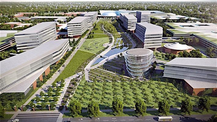 Dearborn Campus Transformation: Product Campus Village Road Entrance