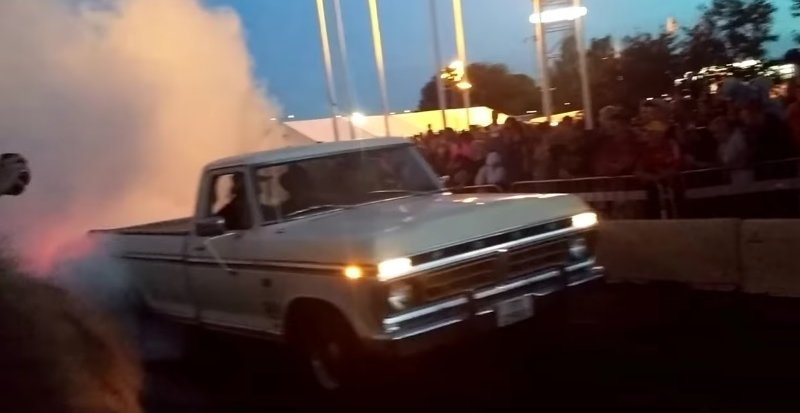 old school f150 burnout