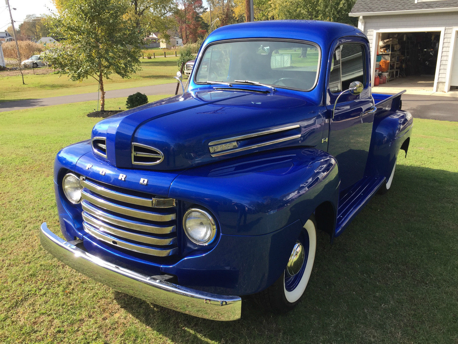 Charming 1948 F 1 Stands The Test Of Time Ford Truck Flathead 6 Electric Blue Is Packed With A Legendary V8 But Who Cares About Speed When Cruising Around In This Classic Early Trucks
