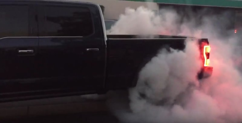 F-250 Monster Burnout