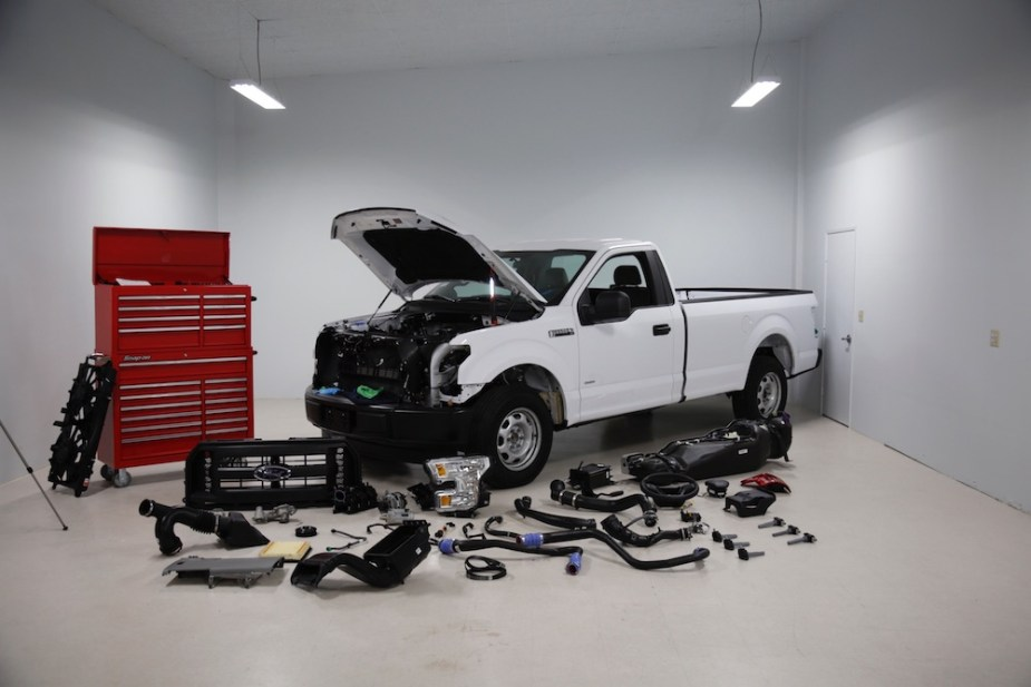 haynes manuals ford f-150 teardown
