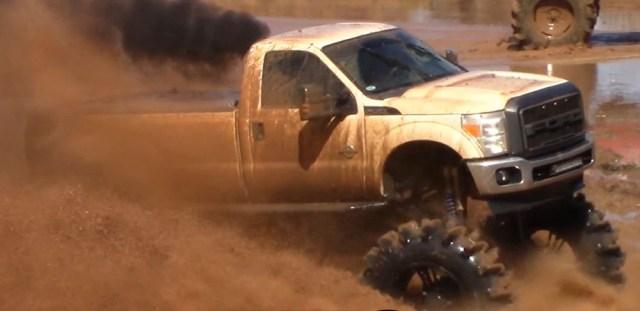 Ford Diesel Through Mud