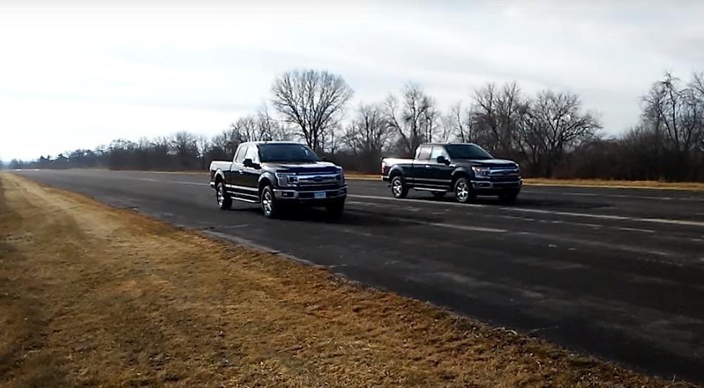 drag race     ecoboost video ford truckscom
