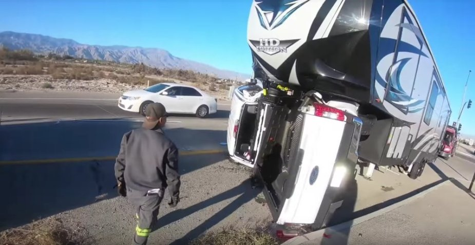 New F-250 Wrecked