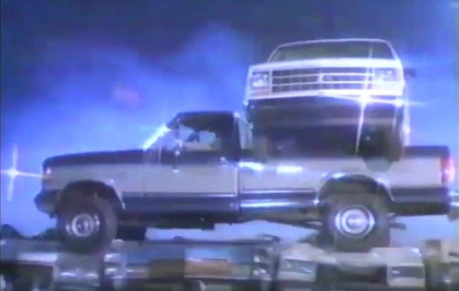 1987 F-350 Hauls a Chevy