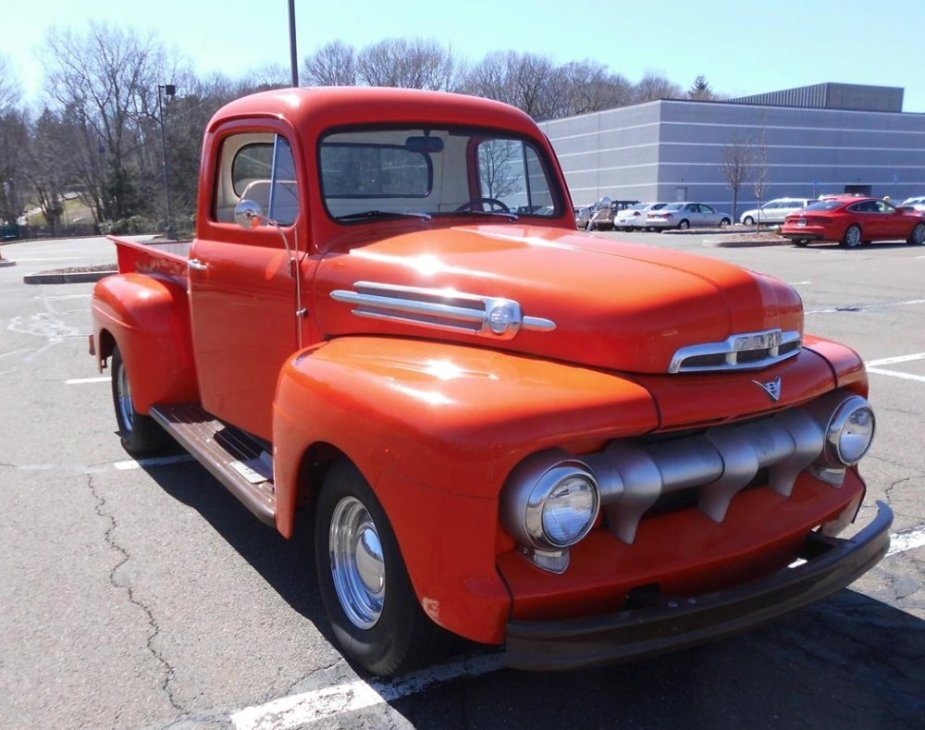 1951 Ford F-1 Orange PS Front