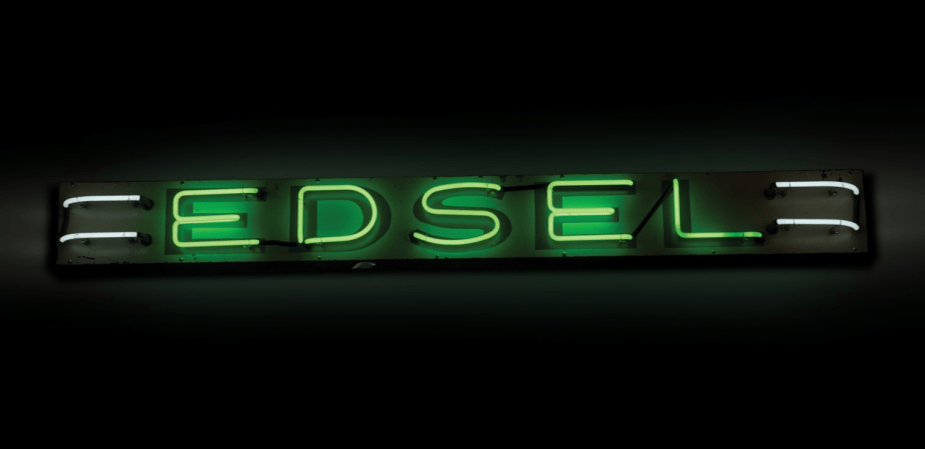 Sotheby's auction Edsel sign