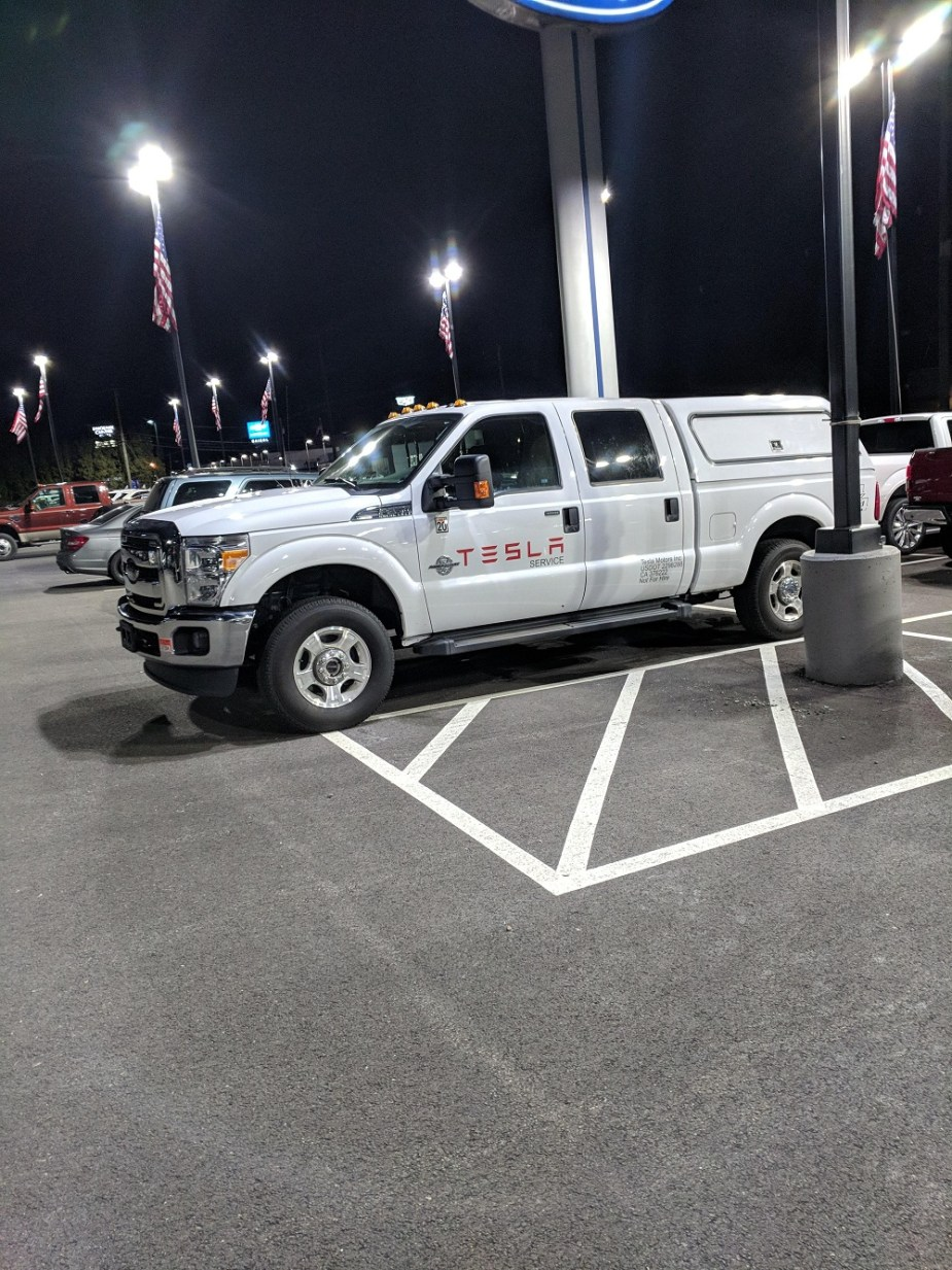 Ford F-250 Tesla Service truck