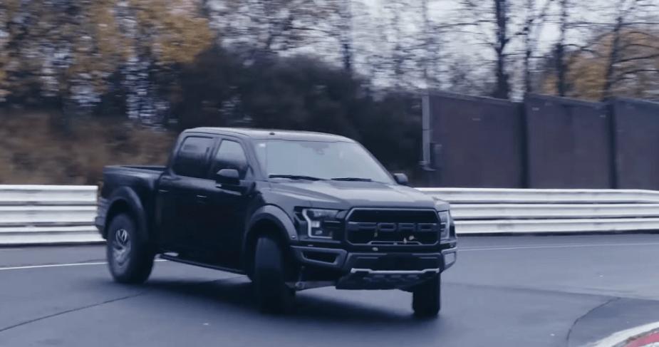 ford-trucks.com Drifting Ford F-150 Raptor on Nurburgring