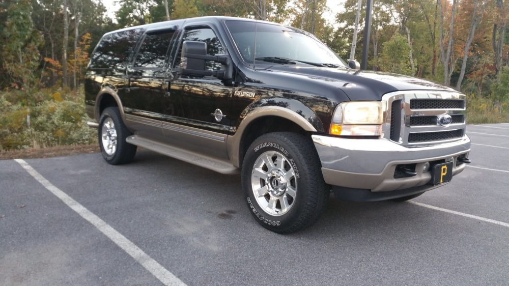 last year ford excursion was made