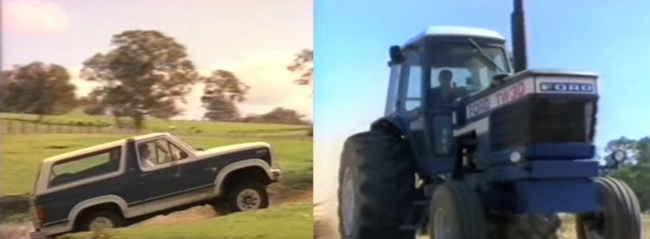 Bronco and Ford TW30 Tractor