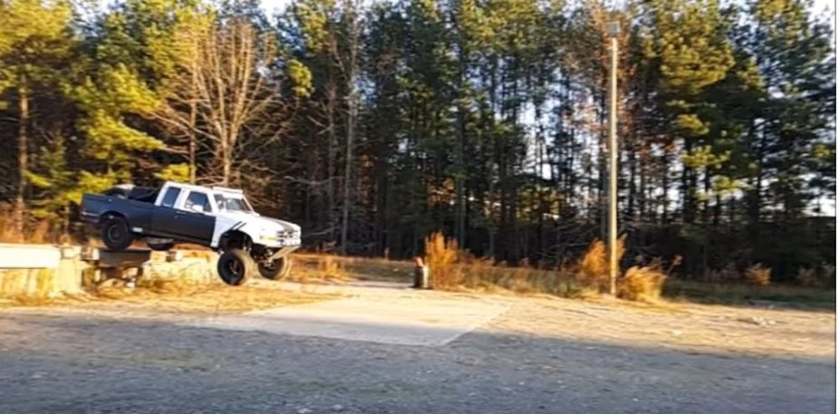90s F-150 prrerunner flying