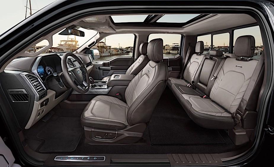 2019 Ford F-150 Limited interior profile