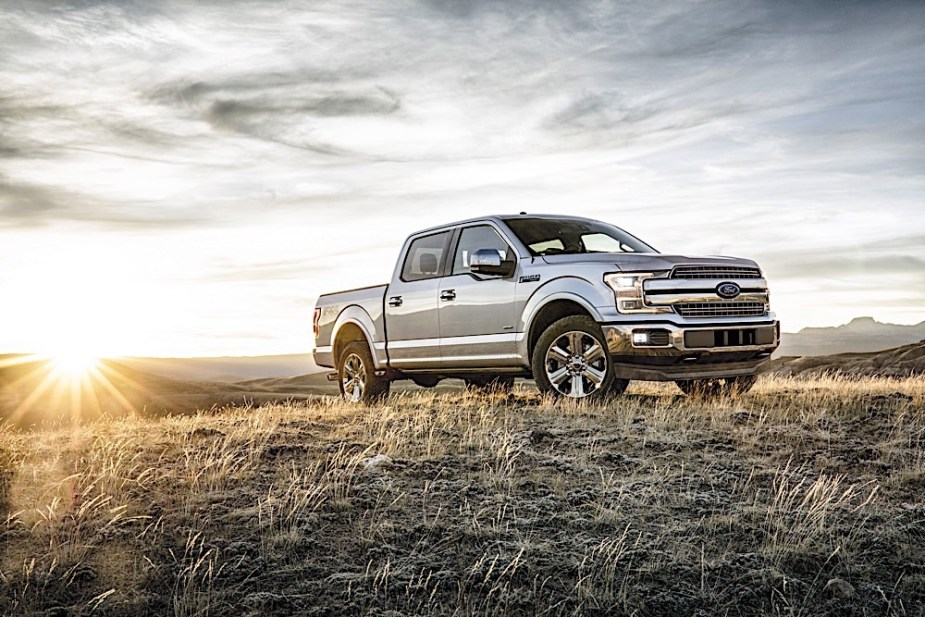 2018 Ford F-150 at sunrise