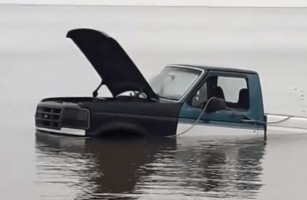 F150 flood tide under water