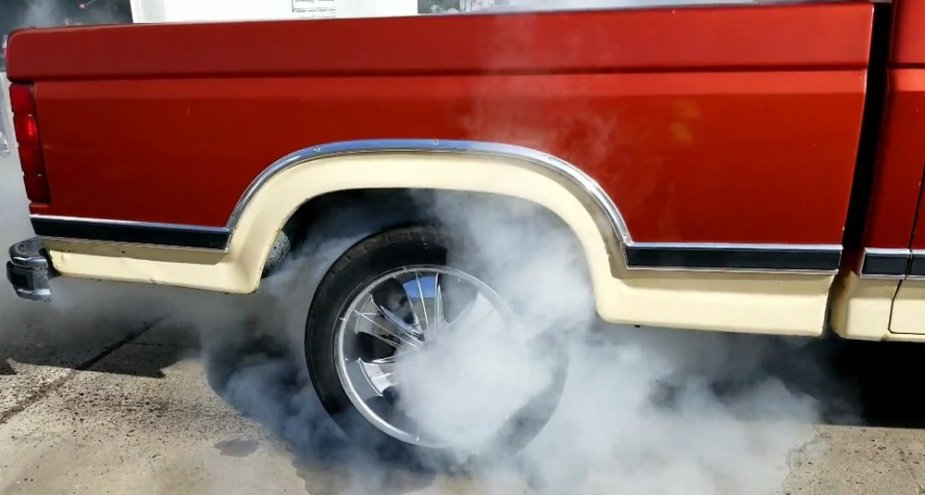1984 F-150 Close-Up Burnout