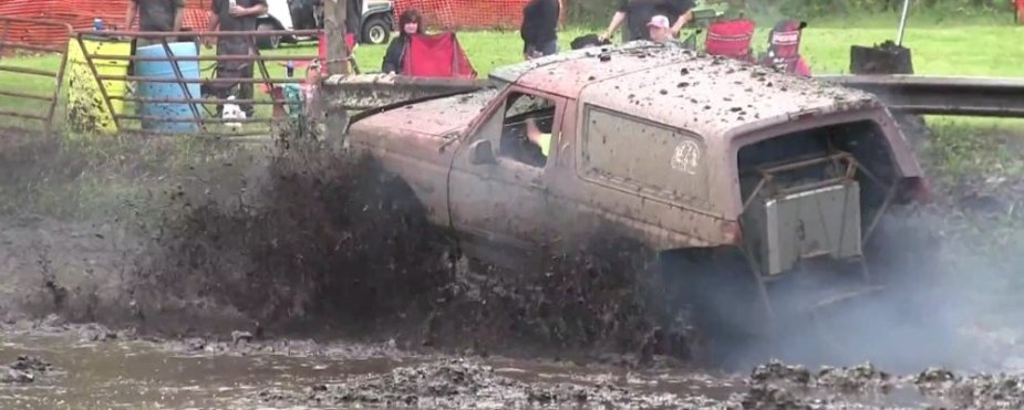 Ford Bronco Stuck in Mud