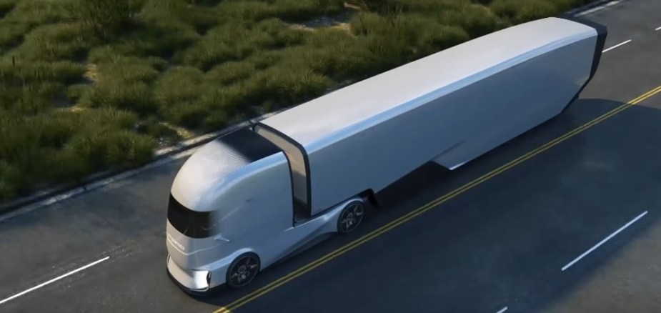 Ford F-Vision on the Road with a Trailer