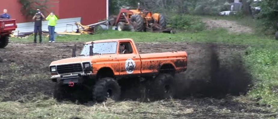 1979 Ford F-250 Mud Truck Flying