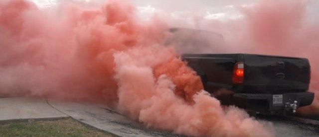 F-250 Pink Smoke