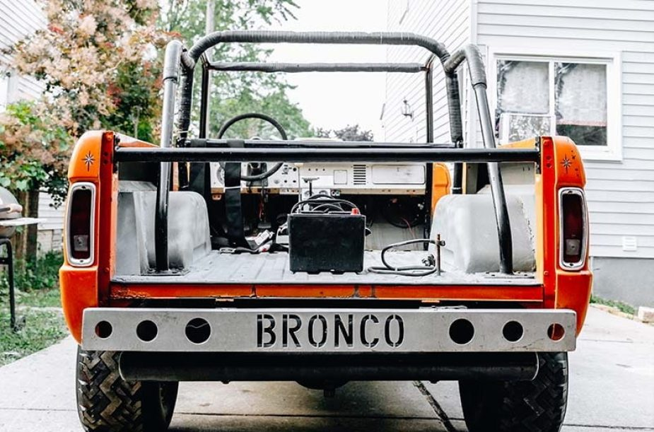 "1969 Ford Bronco ""The Nasty One"" hillclimber."