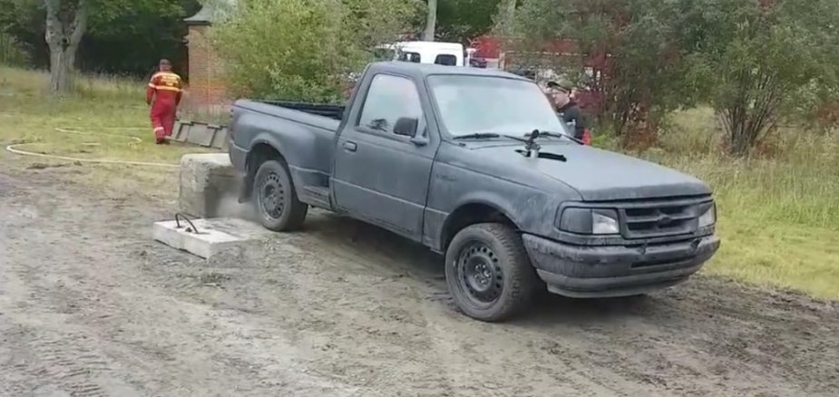 Ford Ranger Chained Down