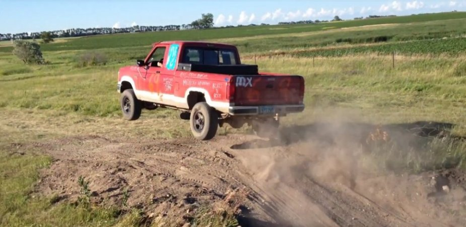 Ford Ranger in the Air
