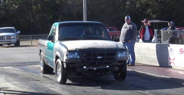 Ford Ranger V8 Burnout