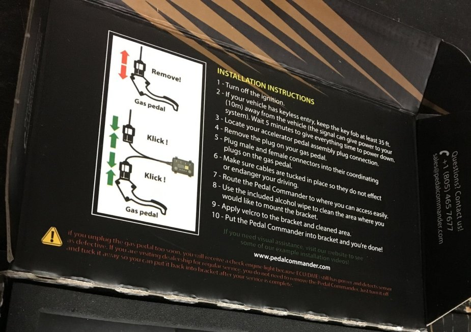 Ford F-250 Pedal Commander Instructions