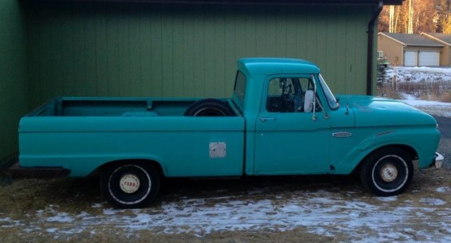 1965 Ford F-100 Project Side Before