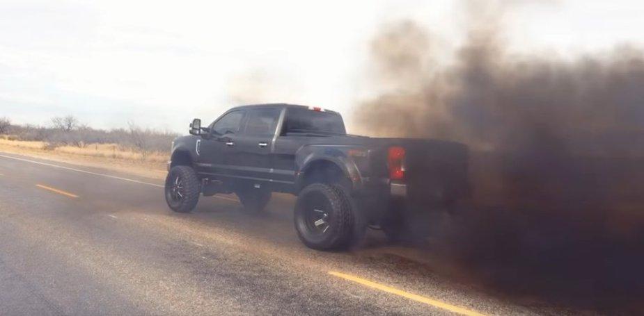 2018 Ford F-350 Black Smoke