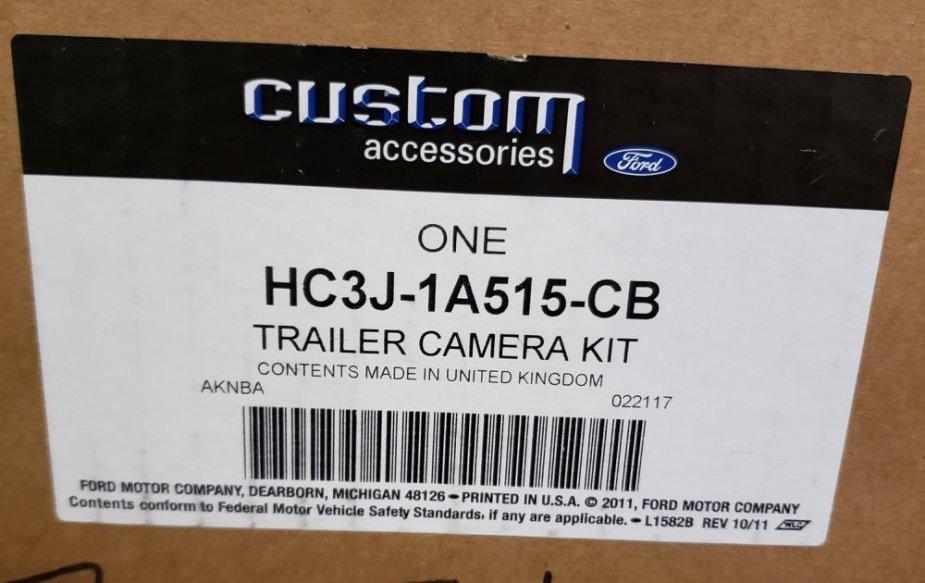 Ford Super Duty Camera Label