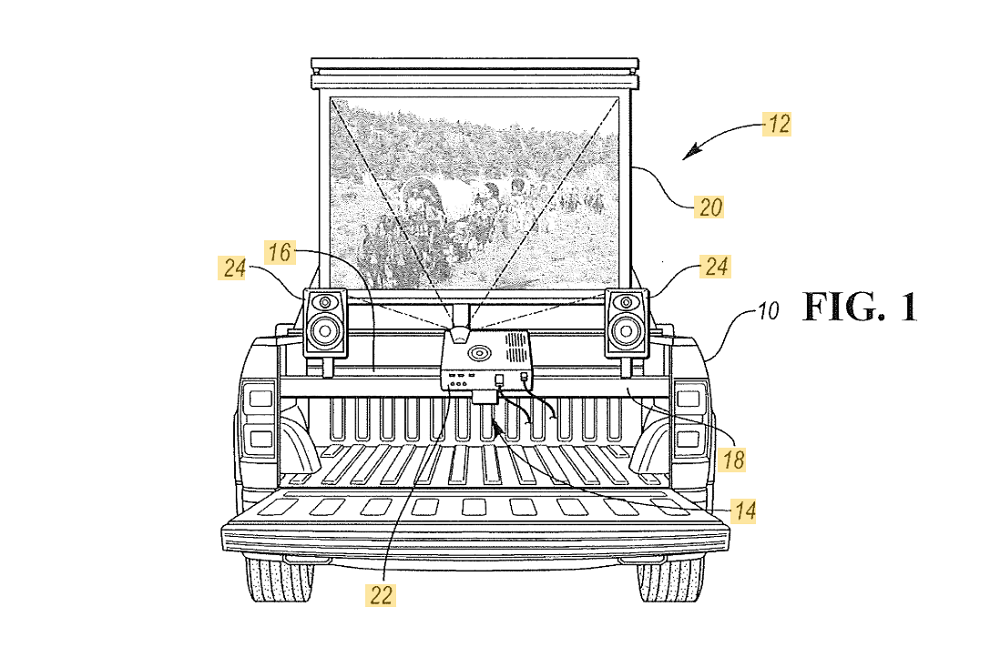 Ford Patent Transforms Your F-150 Bed into a Movie Theater