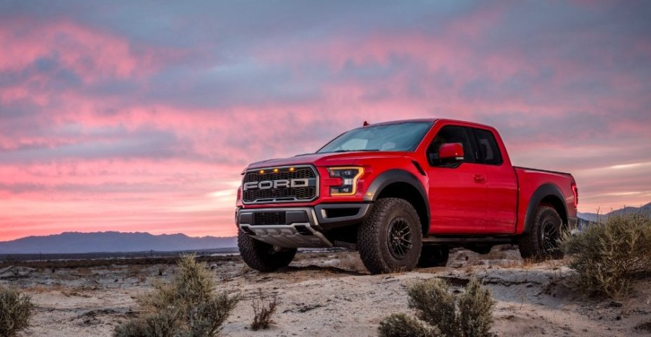 Ford F-150 Raptor in Red