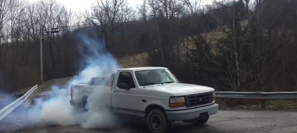 d6c34f067edbb Real Ford Farm Truck Hauls Hay, Burns Rubber: Tire Smokin' Tuesday