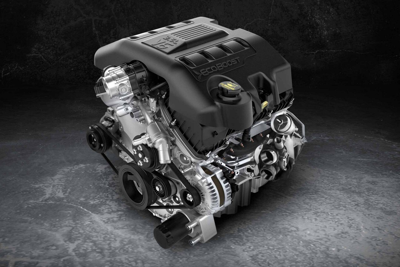 hight resolution of 3 5l ecoboost engine of the 2018 ford explorer