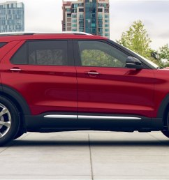 press here to spin 3 60 degrees colourizer 2020 ford explorer shown in rapid red metallic [ 1440 x 618 Pixel ]