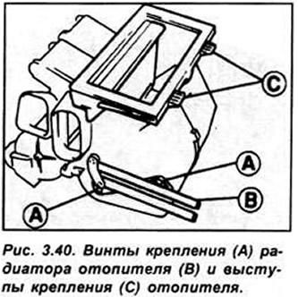 Вентилятор отопителя (Двигатель / Охлаждение и отопление