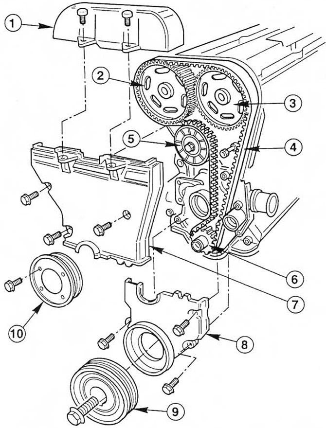 Зубчатый ремень механизма газораспределения (Двигатель / 4