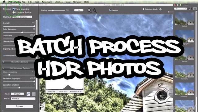 Batch Process HDR