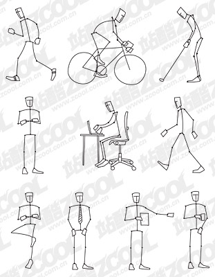 line drawing of the movement of people Download Free