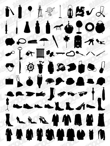 1000 album various silhouette vector material-8 Download