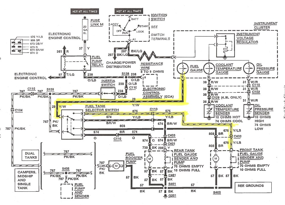 medium resolution of 1990 ford mustang fuel gauge wiring wiring diagram used 1990 ford mustang fuel gauge wiring
