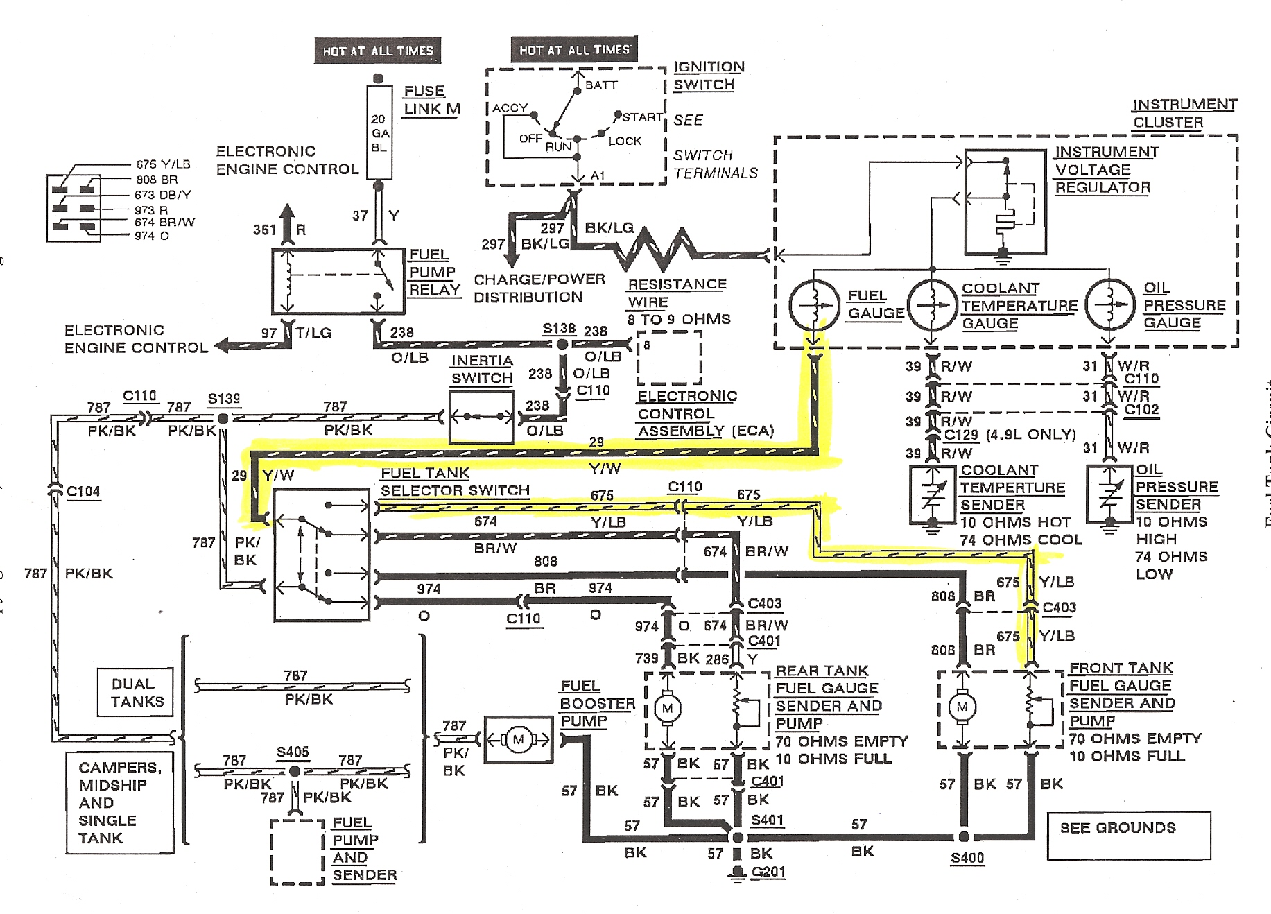 hight resolution of 88 ford mustang fuel sender wiring wiring diagram forward 1990 ford mustang fuel gauge wiring