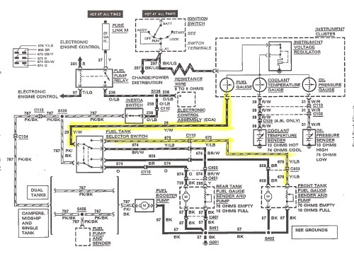 small resolution of 1990 ford mustang fuel gauge wiring wiring diagram used 1990 ford mustang fuel gauge wiring