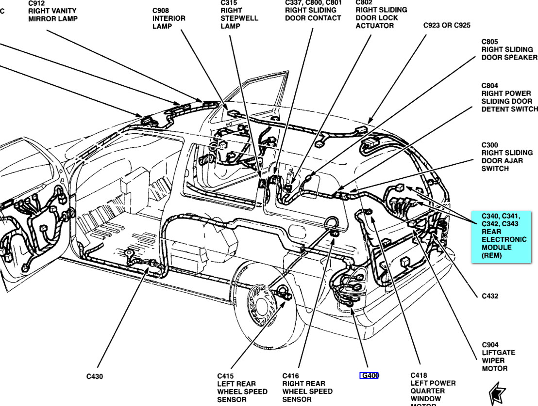 hight resolution of am looking for a place to mount an antenna on a 2000 windstar 2000 ford windstar 2001 ford expedition door ajar diagram