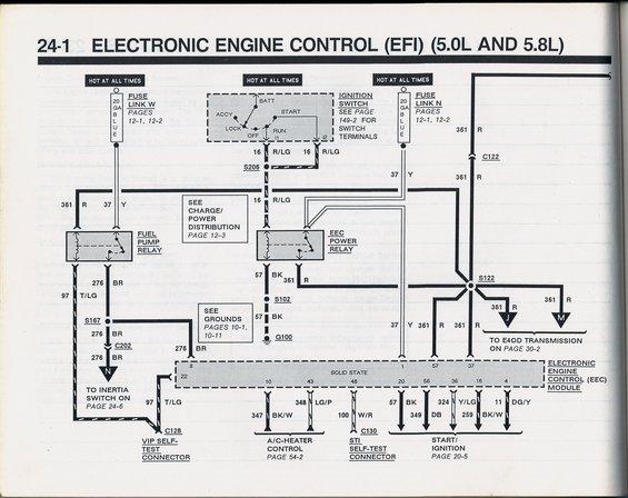 92 Ford Bronco Ecu Wiring Diagram Shorted Pcm Fuel Pump Continues To Run Fordforumsonline Com