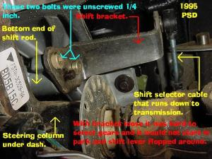 2001 Explorer Sport steering column shift lever
