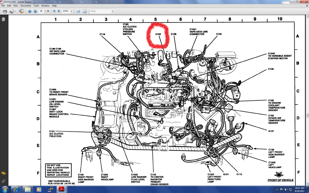 medium resolution of 1999 taurus engine diagram wiring schematic lifting 2005 taurus engine diagram taurus engine diagram source 1989 ford taurus sho